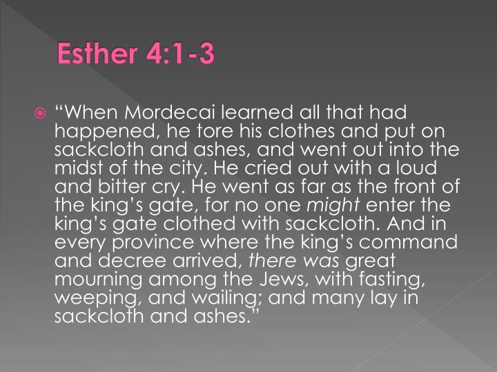 Esther 4:1-3
