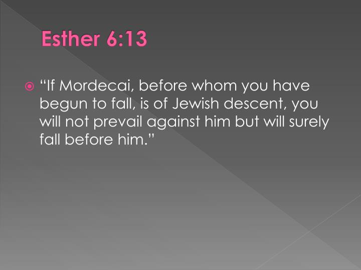 Esther 6:13