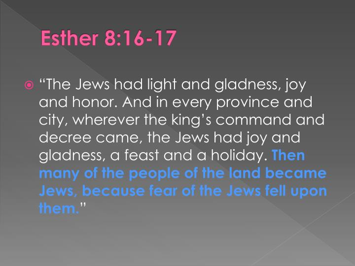 Esther 8:16-17