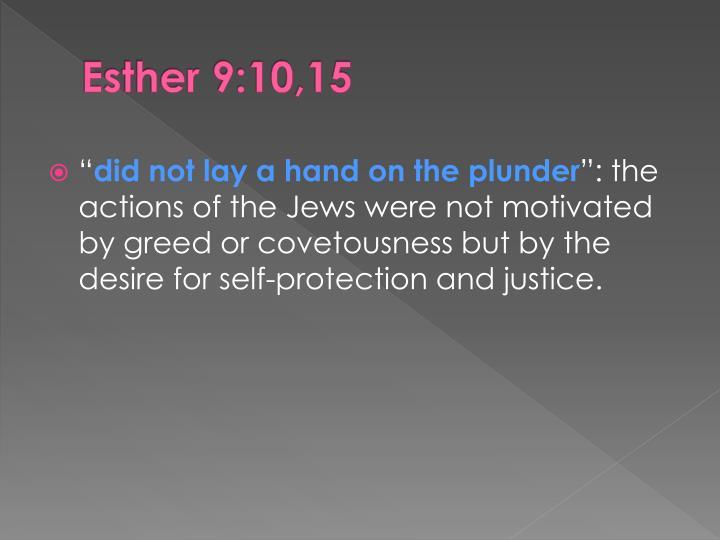 Esther 9:10,15