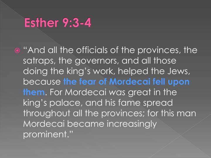 Esther 9:3-4