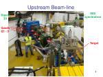 upstream beam line