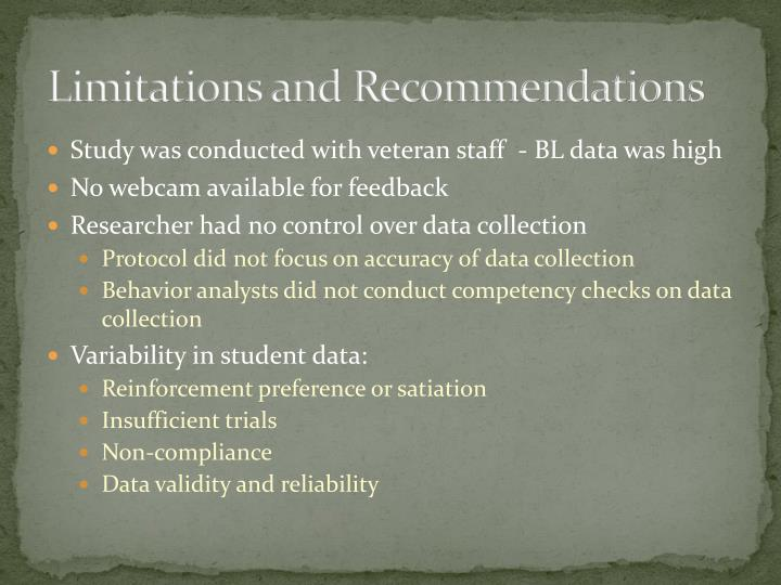 Limitations and Recommendations