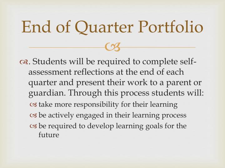 End of Quarter Portfolio