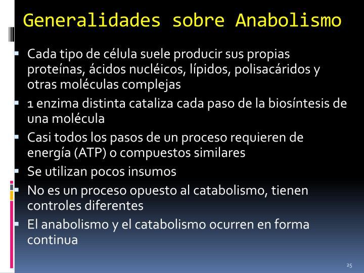 Generalidades sobre Anabolismo