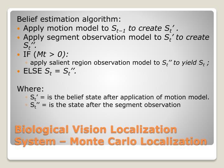 Belief estimation algorithm: