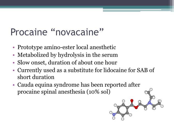 """Procaine """"novacaine"""""""