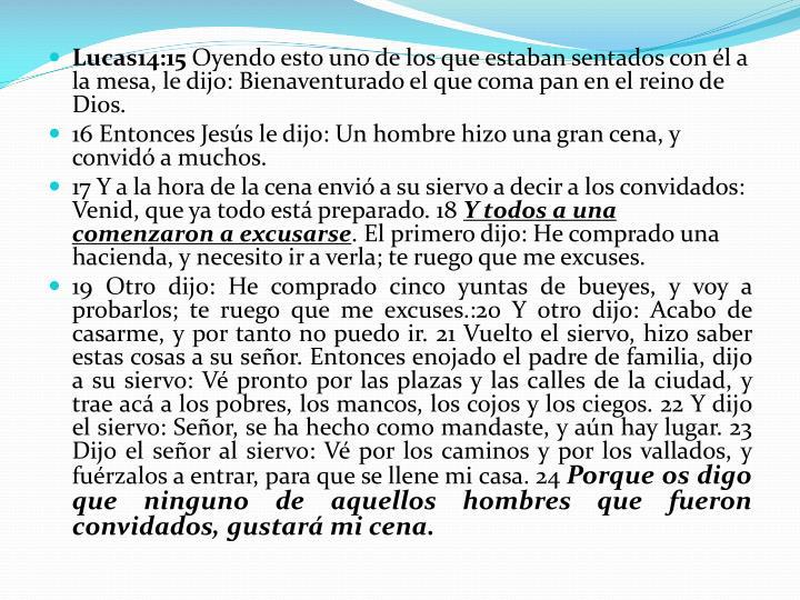 Lucas14:15