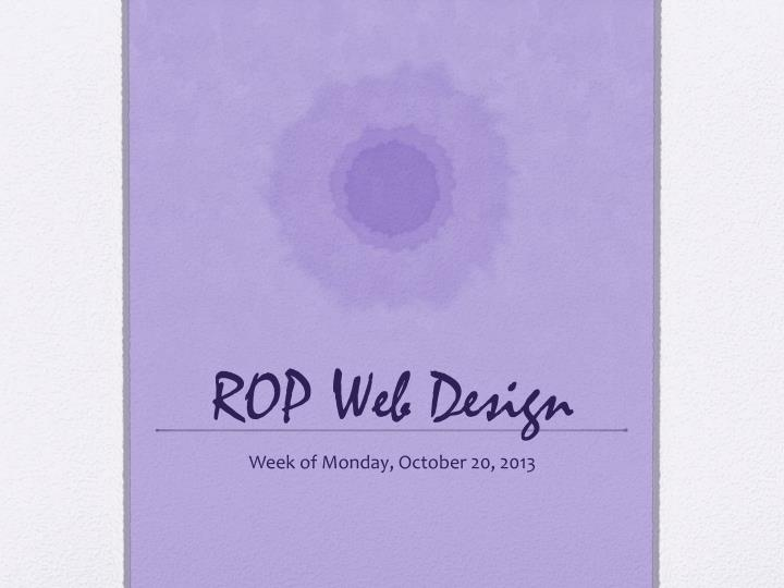 ROP Web Design