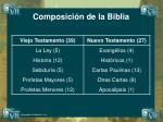 composici n de la biblia