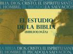 el estudio de la biblia bibliolog a