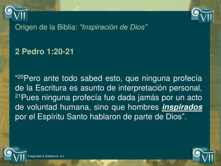 Origen de la Biblia: