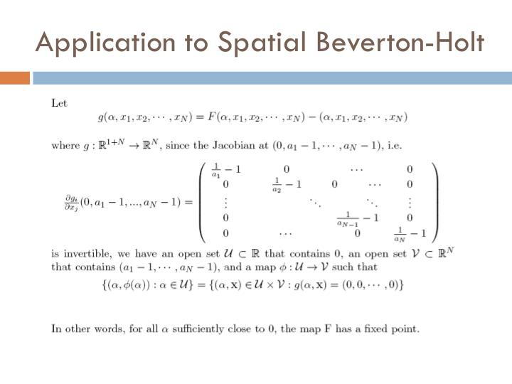 Application to Spatial