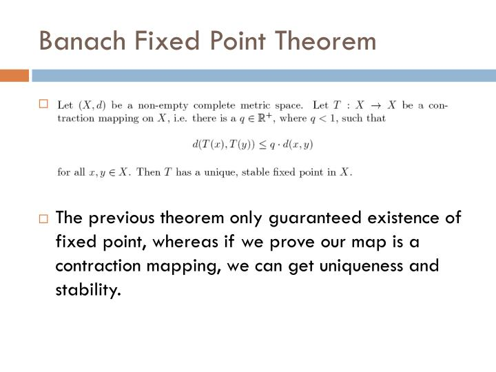 Banach Fixed Point Theorem