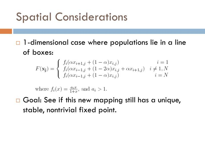 Spatial Considerations