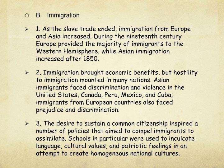 B.Immigration