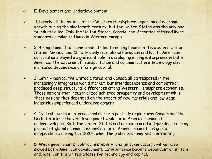 E. Development