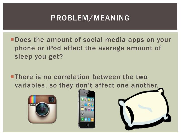 Problem/Meaning