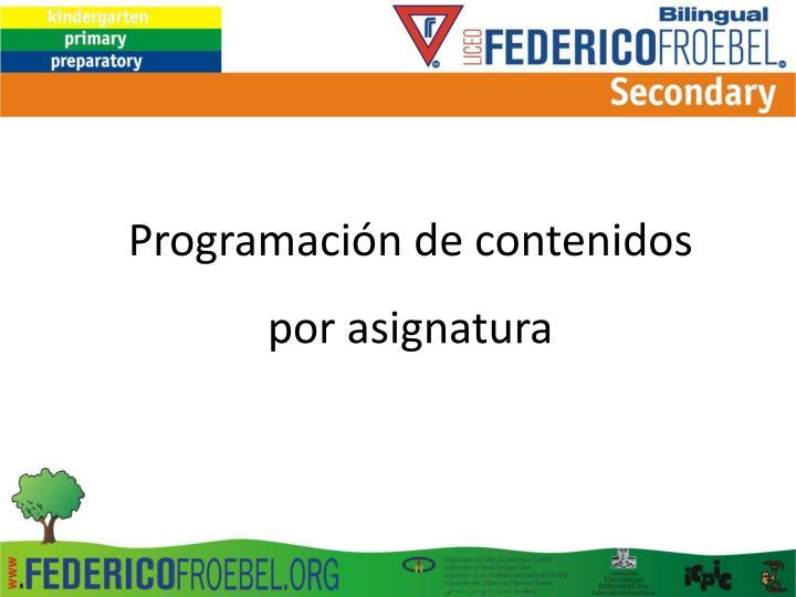 Programación de contenidos