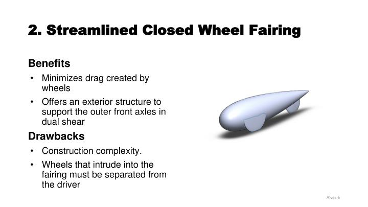 2. Streamlined Closed Wheel Fairing