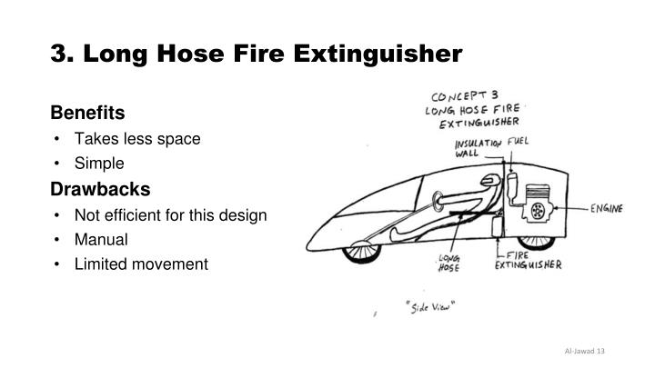 3. Long Hose Fire Extinguisher