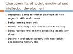 characteristics of social emotional and intellectual development2