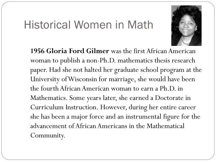 Historical Women in Math
