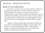 science read the article