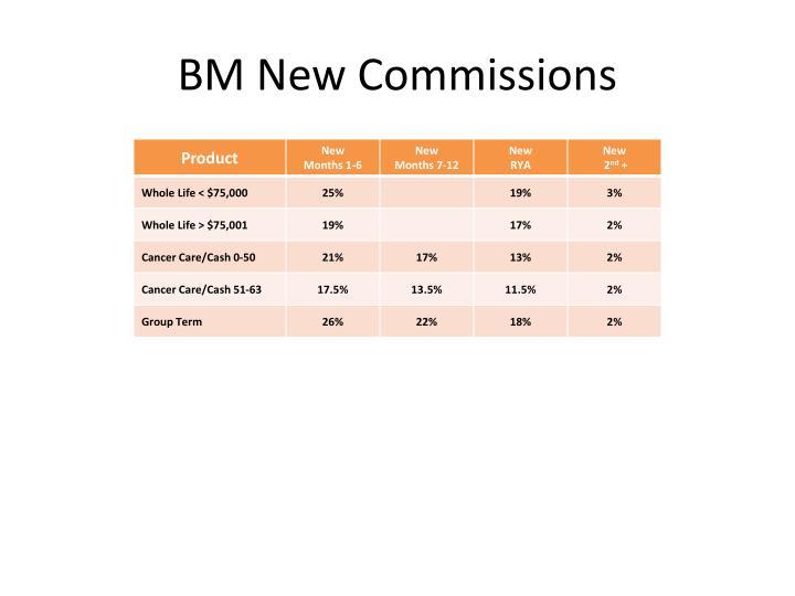 BM New Commissions