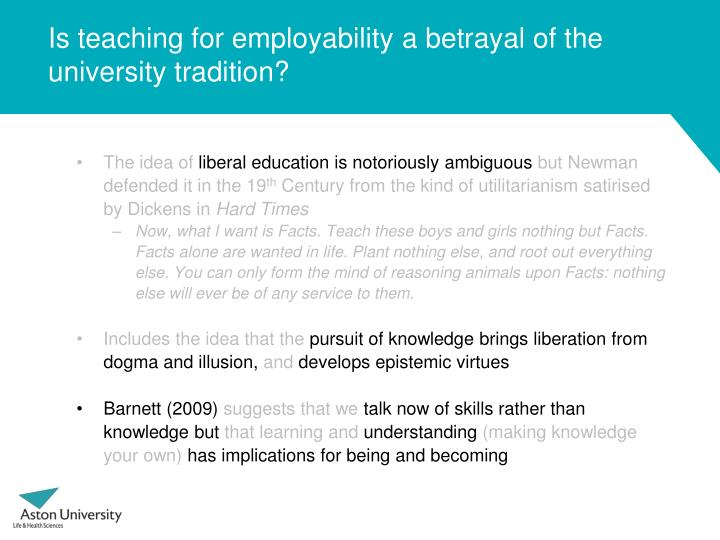 Is teaching for employability