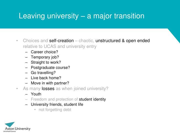 Leaving university –
