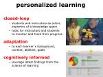 p ersonalized learning