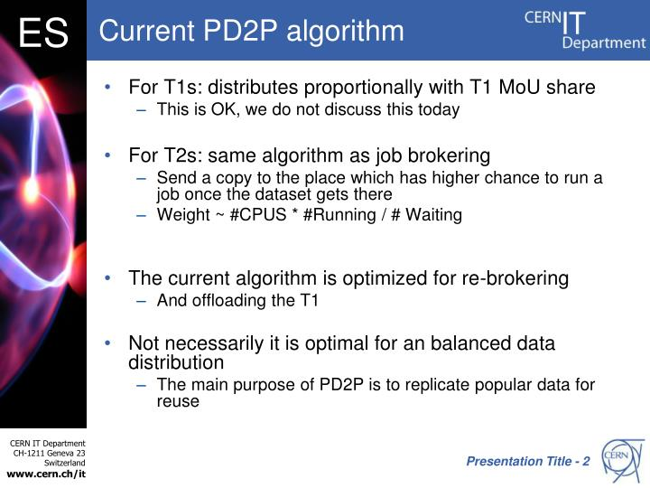 Current pd2p algorithm