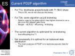 current pd2p algorithm