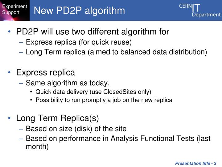 New PD2P algorithm