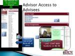 advisor access to advisees