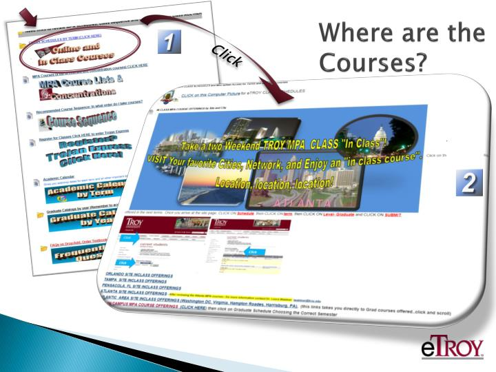 Where are the Courses?