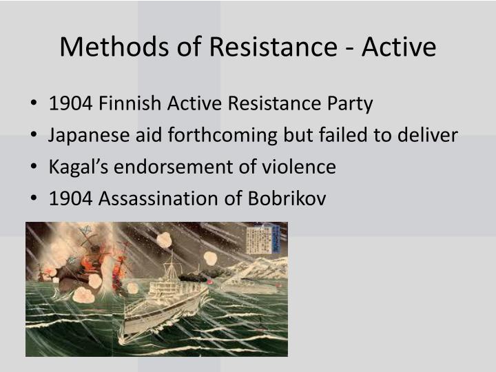 Methods of Resistance - Active