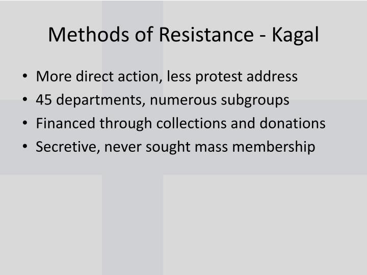 Methods of Resistance -