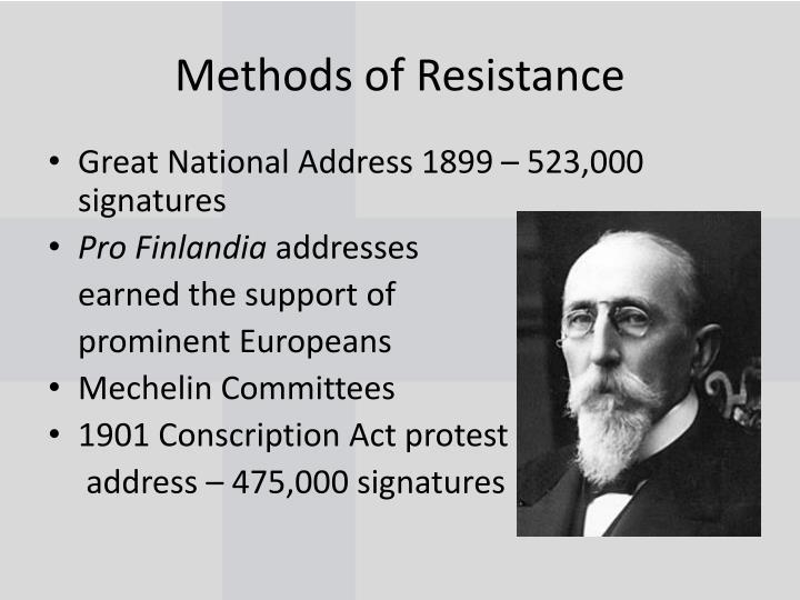 Methods of Resistance