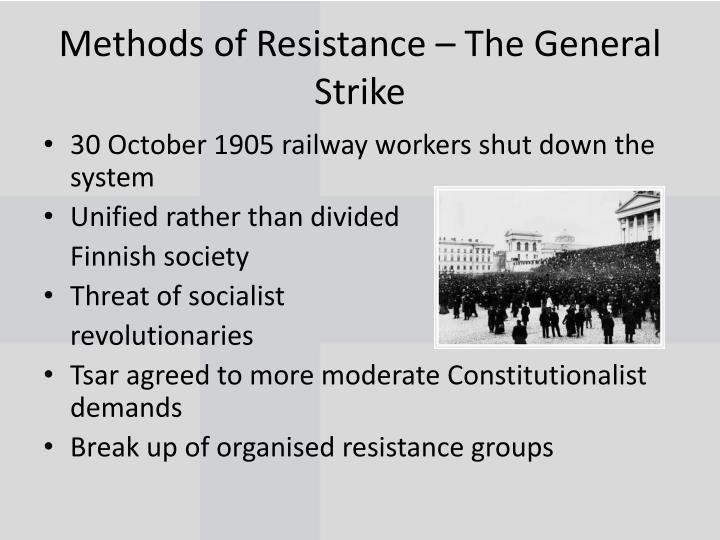 Methods of Resistance – The General Strike