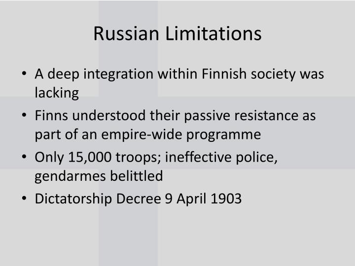 Russian Limitations
