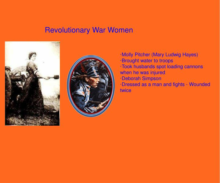 Revolutionary War Women