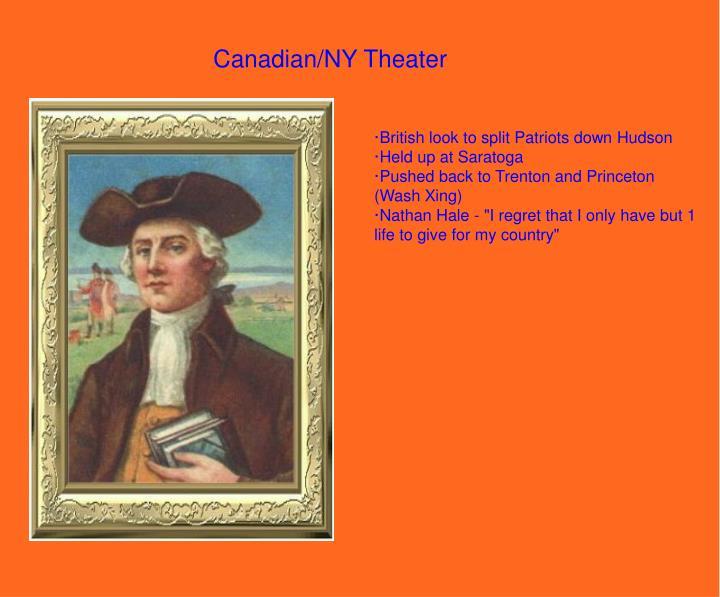 Canadian/NY Theater