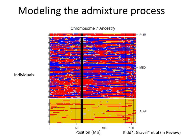 Modeling the admixture process