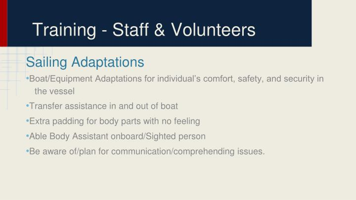 Training - Staff & Volunteers