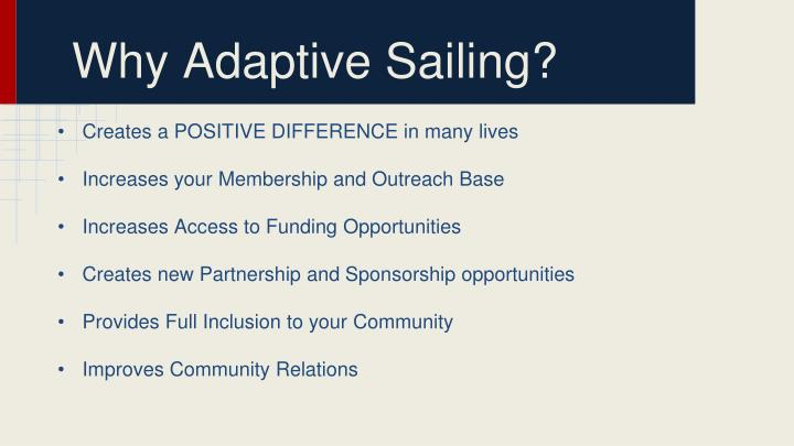 Why Adaptive Sailing?