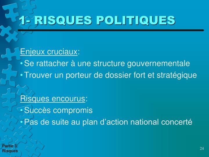 1- RISQUES POLITIQUES