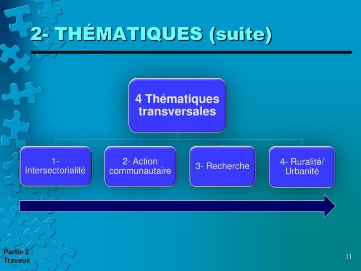 2- THÉMATIQUES (suite)
