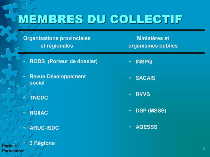 MEMBRES DU COLLECTIF